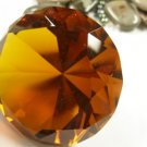 Topaz Crystal Diamond Paperweight 80mm