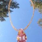 Handblown Glass Leaf and Glass Seed Beads #mg002
