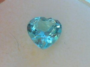 8mm Blue Topaz Heart