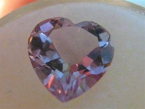 8mm Heart Shaped Amethyst