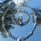 Hematite Snow Flake Obsidian Necklace Bracelet Earrings #sf001-4495