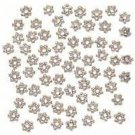 Shiny Silver Plate Daisy Spacer Beads 4mm #1038