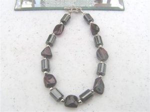 Magnetic Hematite Garnet Nuggets Bracelet  #1a