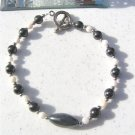 Magnetic Hematite Mother Of Pearl Anklet  #ank15