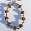 Boulder Nugget Smoky Quartz Necklace  #12-31-7