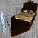 New Custom Three Piece Pirate Ship Twin Rustic Wooden Boat Bed Storage Trunk & Entertainment Center