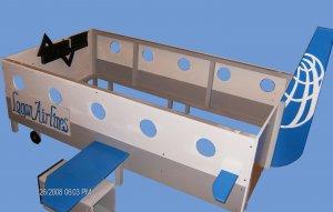 New Custom Wooden Passenger Jet AIRPLANE TWIN BED