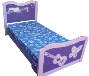 New Custom Wooden Pink & Purple Girl Guitar TWIN BED