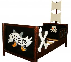 New Custom Wooden Pirate Theme Toddler Bed