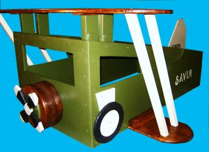 New Custom Wooden Vintage Bi-Wing Airplane Toddler Bed