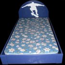 TWIN BED SPORTS TWIN BED FOOTBALL BED BASEBALL BED BASKETBALL BED good w/ sports bedding