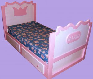 princess twin bed with 4 drawers pink bed girls bed