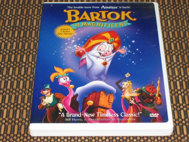 Bartok The Magnificent DVD Animation Mint!