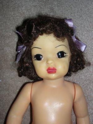 """Terri Lee 16"""" Brunette Hard Plastic Doll to dress"""