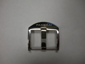 20mm Polished Stainless Steel Fingernail Buckle for Panerai