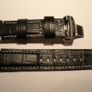 24mm Black/White Stitch/Black Lining Leather Strap w/ Deployment for Panerai