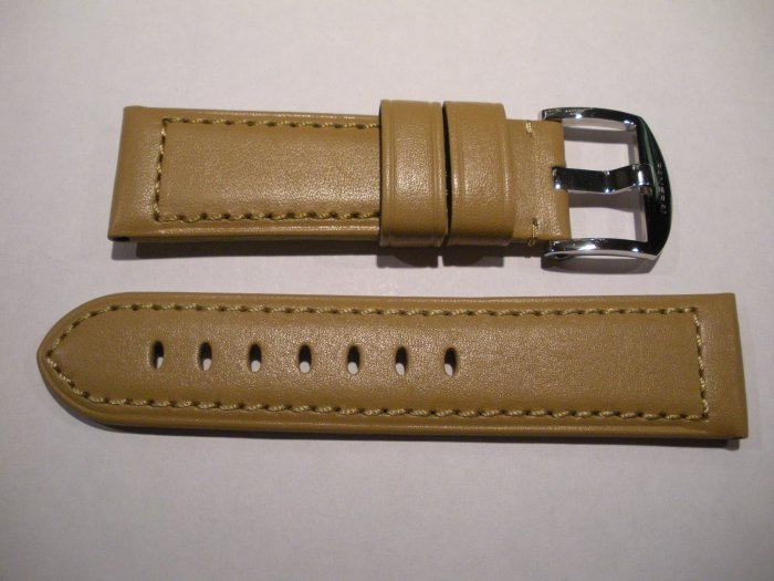 24mm Flat Tan Leather Strap only for Panerai