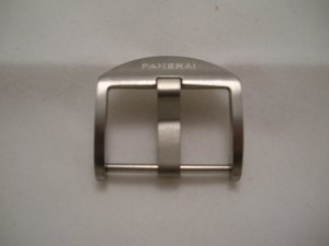 22mm Titanium Fingernail Buckle Brushed for Panerai