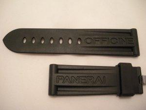 24mm Black Rubber Dive Strap for Officine Panerai Buckles