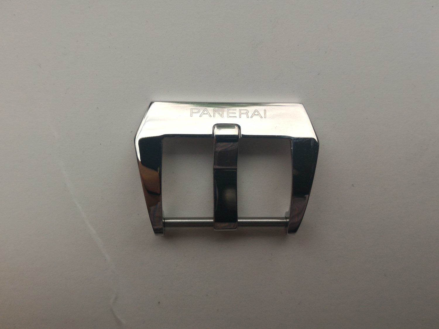 20mm Pre-V Fishtail Buckle Polished for Panerai