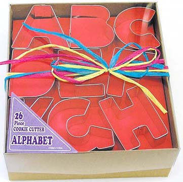 Alphabet Letters in Storage Box - 26 Pieces, L1954