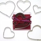 Heart Set w/ Crinkle Hearts - 5 Pieces,  L1963B