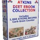 ATKINS 1,000+ DIET RECIPES EBOOK & CARB GRAM COUNTER