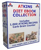 ATKINS 1,000+ DIET RECIPES EBOOK & CARB GRAM COUNTER