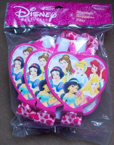 Disney Princess Party Blowouts Favors 8 pack