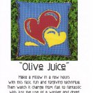 """Olive Juice"" Pillow Pattern Raggedy Reverse Appliqué ~ FREE SHIPPING ~"
