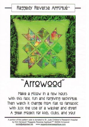 �Arrowood� Pillow Pattern Raggedy Reverse Appliqué ~ FREE SHIPPING ~