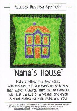 �Nana�s House� Pillow Pattern Raggedy Reverse Appliqué ~ FREE SHIPPING ~