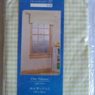 NEW HOMETRENDS GINGHAM RICKRACK VALANCE 40x15 LIGHT GREEN ~FREE SHIPPING~