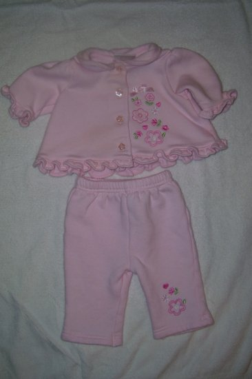 2pc. Outfit With Floral Decorations