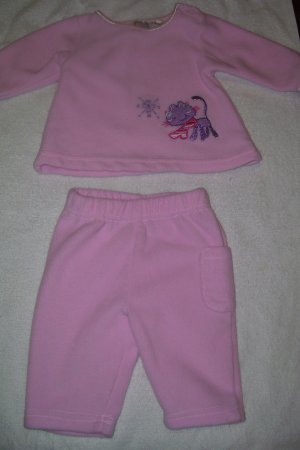 2pc. Outfit With Purple Kitty