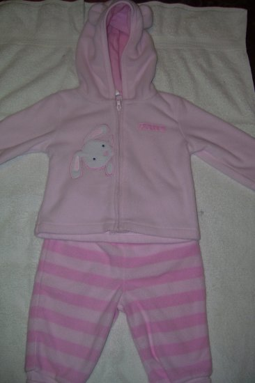 2pc. Hooded Fleece Outfit