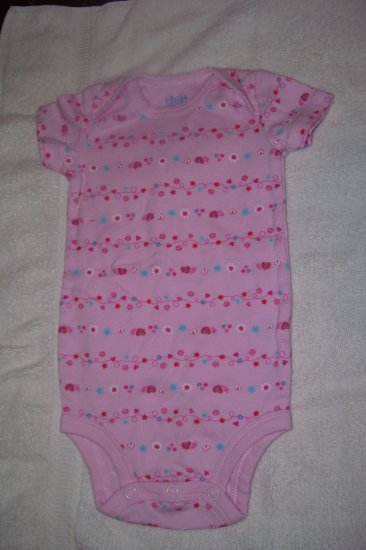 Light Pink Onesie With Hearts