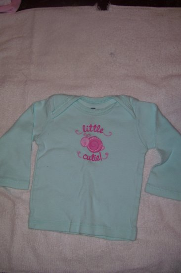 Blue-Green Long Sleeve Shirt