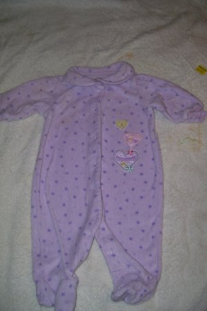 "Purple Cotton ""I Love Mommy"" Sleeper"