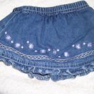 Infant Girls Denim Skort