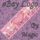 Pink Hearts Customized eBay Store Logo 310 X 90 #L033