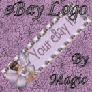 Lavender Mushroom Fairy Customized eBay Store Logo 310 X 90 #L015