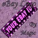 Purple Pink and Black Customized eBay Store Logo 310 X 90 #L008