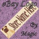 Pug Dog Puppy Customized eBay Store Logo 310 X 90 #L040