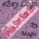 Pink Roses Customized eBay Store Logo 310 X 90 #L042