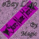 Magenta with Black Cats Customized eBay Store Logo 310 X 90 #L050