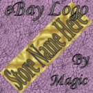 Gold Satin Texture Customized eBay Store Logo 310 X 90 #L057