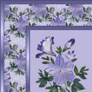 Blue Periwinkle Floral Ebay, OLA, Overstock Ad Listing Template Html Web Page #048