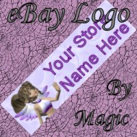 Purple Teen Fairy Customized eBay Store Logo 310 X 90 #L074