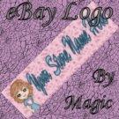 Cartoon Girl in Blue Customized eBay Store Logo 310 X 90 #L079